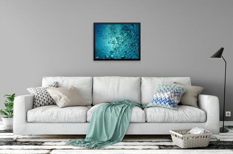 Bubbles Under the Sea - Framed Art Print