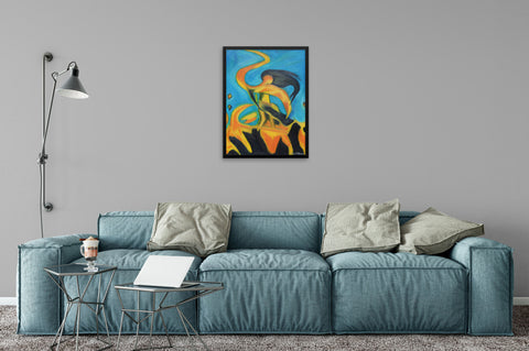 Dancing Fire Sequel - Framed Art Print