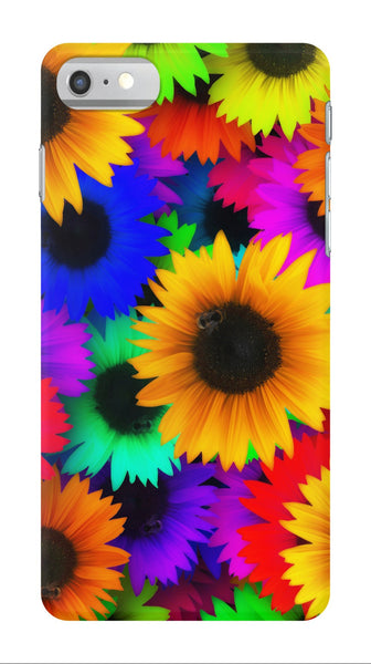 Bright Neon Sunflowers - iPhone 7/7 Plus Case - AWpaints - 1