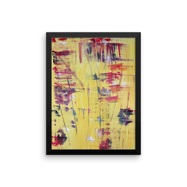 Trashed - Yellow - Framed Art Print