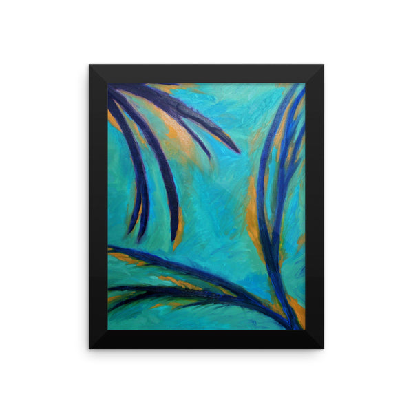 Blue - Framed Art Print