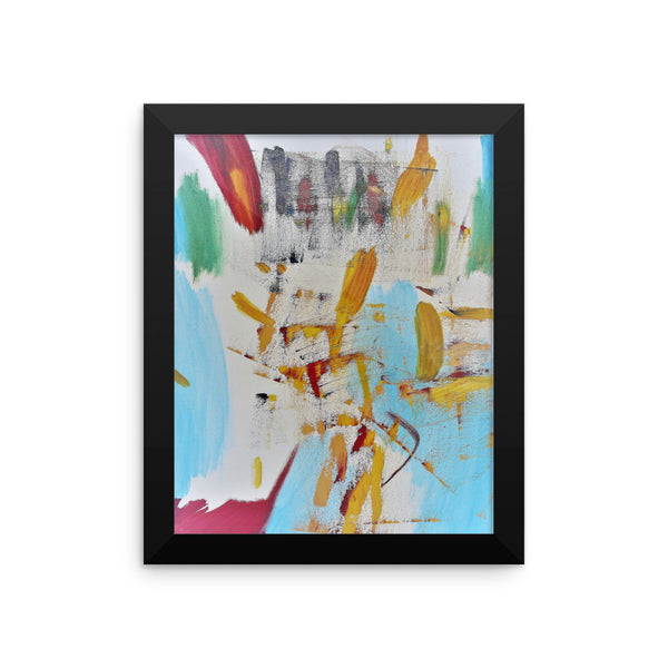 Trashed - White - Framed Art Print