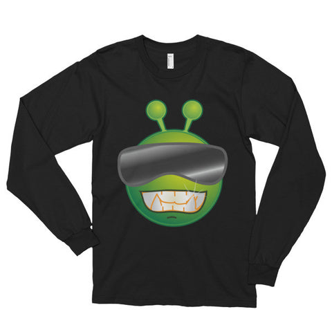 Alien with Shades - Long Sleeve T-Shirt - AWpaints - 1