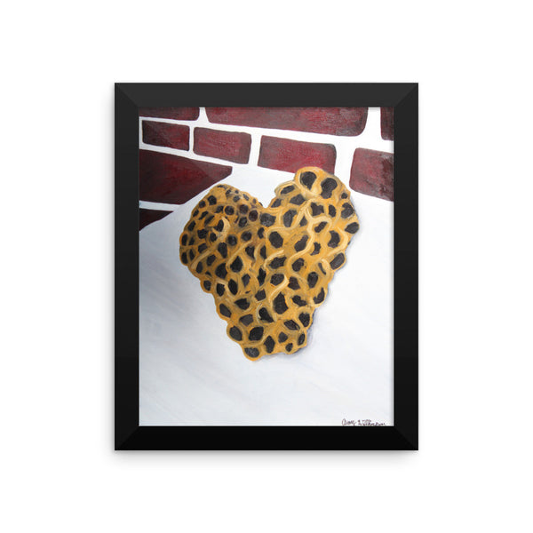 Bee Heart - Framed Art Print