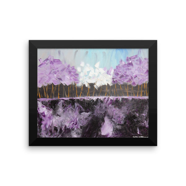 Purple Skies - Framed Art Print
