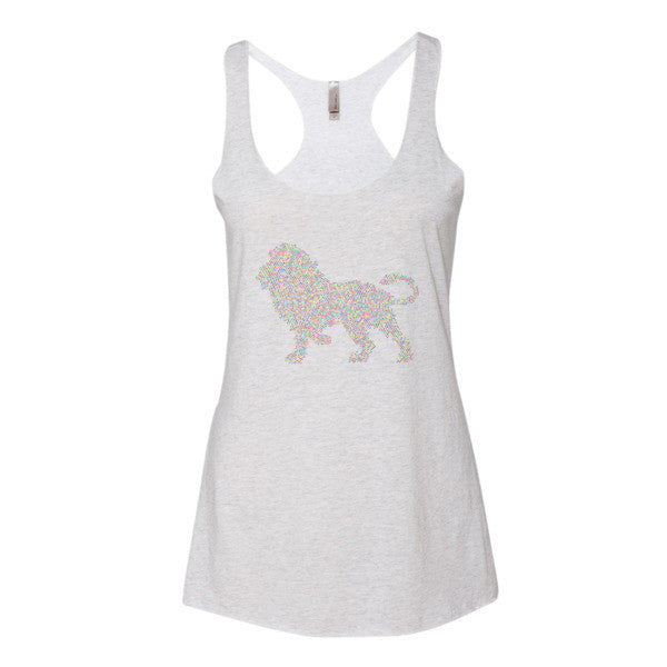 Abstract Lion - Women's Tank Top - AWpaints - 1