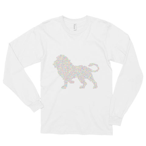 Abstract Lion - Long Sleeve T-Shirt - AWpaints - 1
