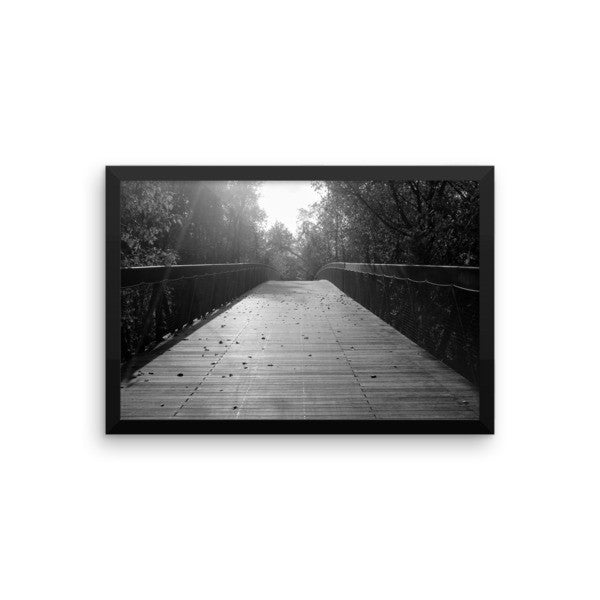 Center Bridge Sequel - Black & White - Framed Art Print - AWpaints - 1