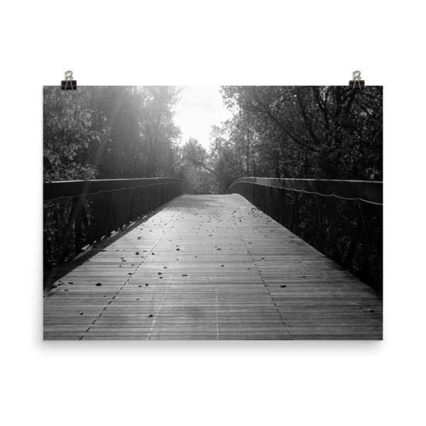 Center Bridge Sequel - Black & White - Art Print - AWpaints - 1