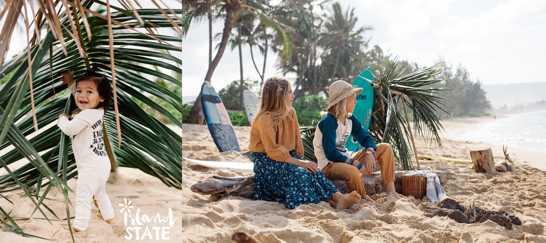 Island State Co is Australia's first eco surf brand for kids, inspired by peace and a long-term respect surfers have had for our planet. We hope to become known for our love and positivity, and our adoration of a laid-back surf life.  We design organic an