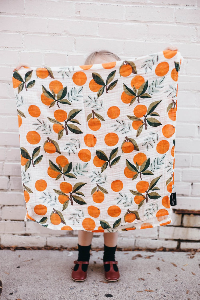 Clementine Kids Swaddles, Quilts and Cot Sheets. Made from 100% Natural Unbleached Cotton. Wonderful Baby Decor.
