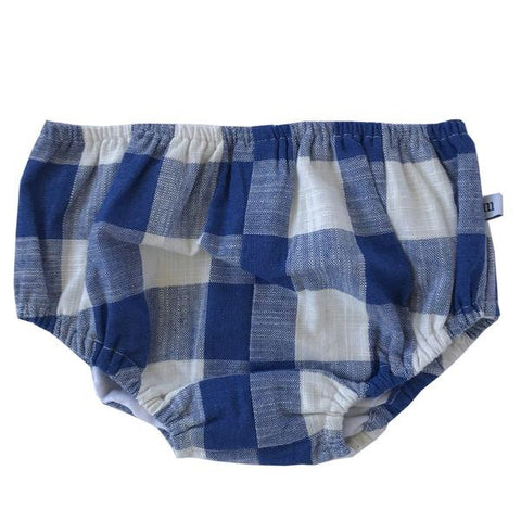 Basic bloomer - blue and white check