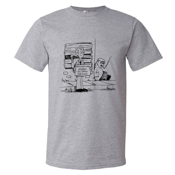 Homeless Architecture Student Short sleeve t-shirt