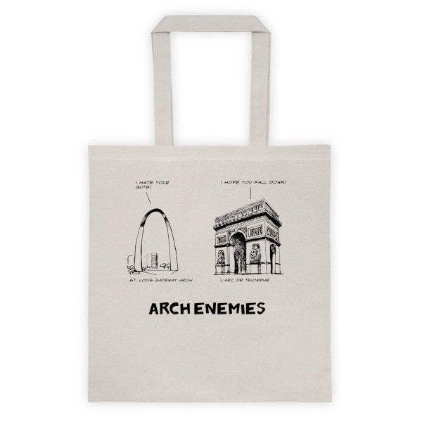 Arch Enemies Tote bag