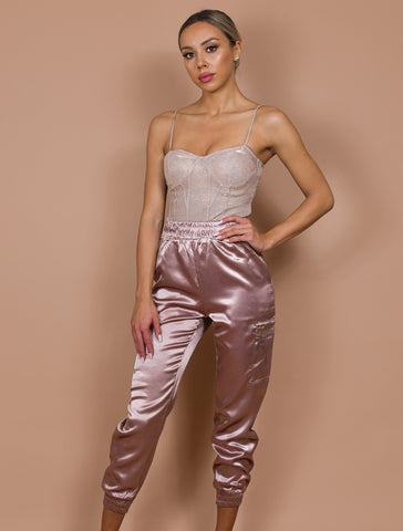 SIMONE dusty pink joggers