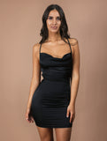 SOPHIA black mini dress