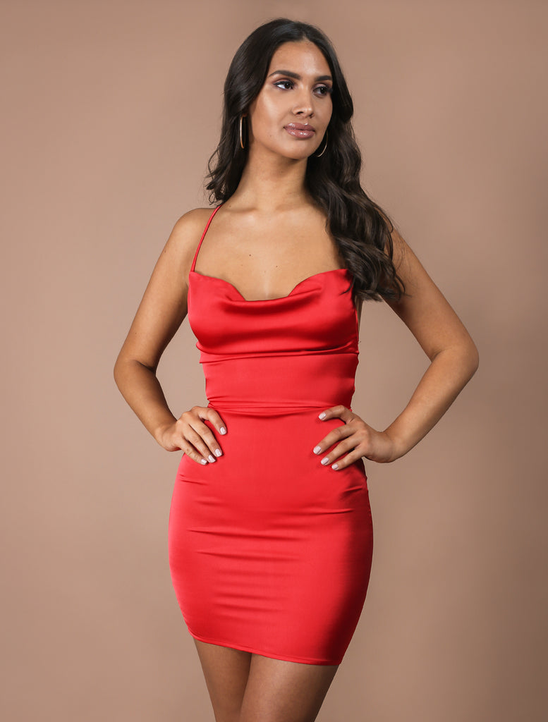 SOPHIA red mini dress