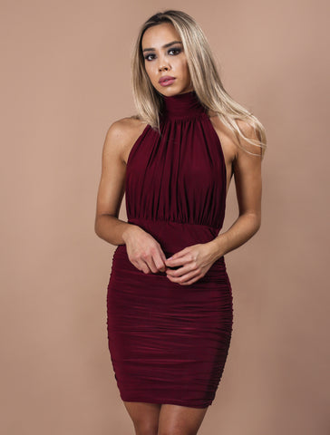 TIANA burgundy dress