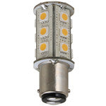 Light-Bulb LED BA15d Tower Warm-White 10-30v - 0.36A @ 12v 4.32w