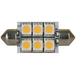 Light-Bulb Festoon 37mm LED Warm-White 10-30v 1.44w 0.12A (6 LEDs) 72 Lumens
