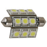 Light-Bulb Festoon 42mm LED Warm-White 10-30v 2.16w 0.18A (9 LEDs) 108 Lumens