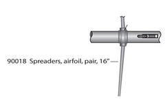 "Mast Spreader Pair 16"" Long Air-Foil for C420 LAS90018 by Laser Performance"