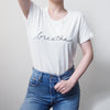 'Breathe' Womens T-shirt