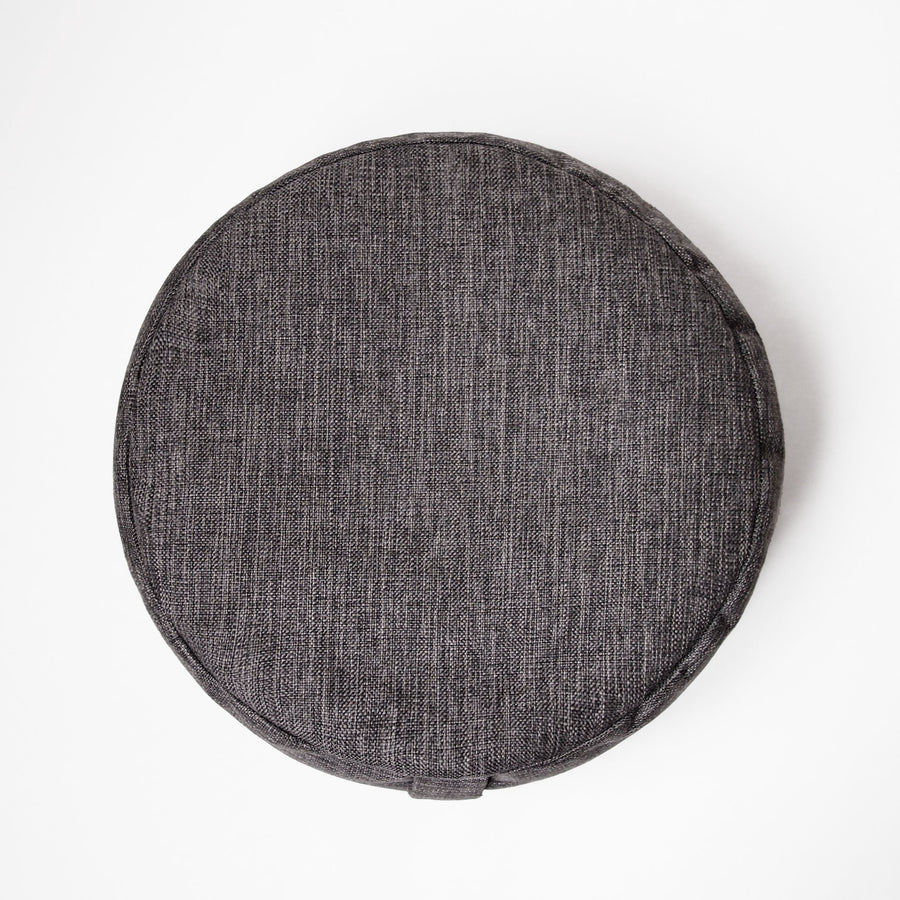 Charcoal Round Cushion