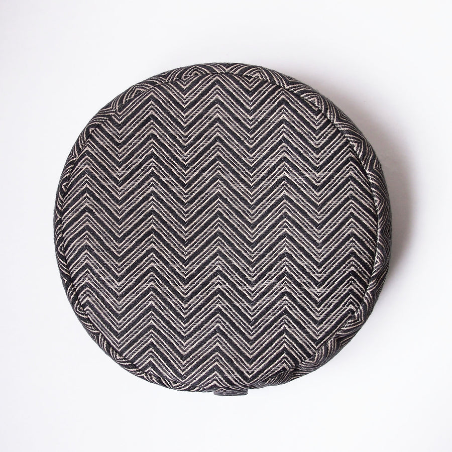 Slate Chevron Round Cushion