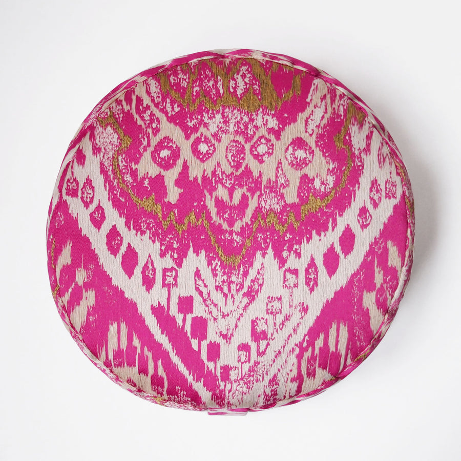 Paradise Ikat Round Cushion