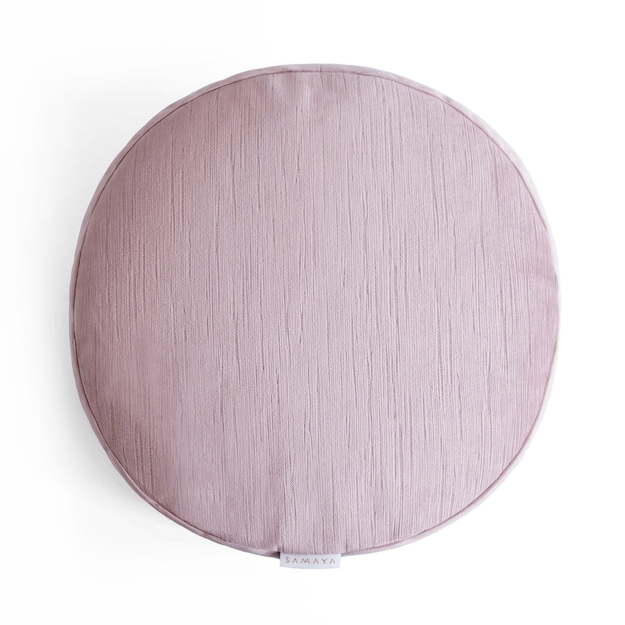 Velvet Blush Round Cushion