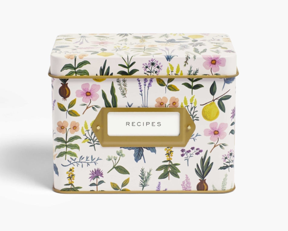 Herb Garden Recipe Tin with Cards