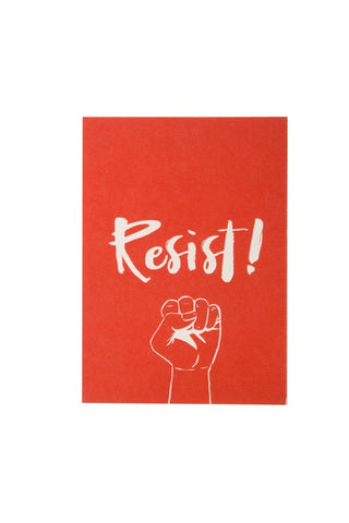 He said, She said - Resist! 5X7 Art Print