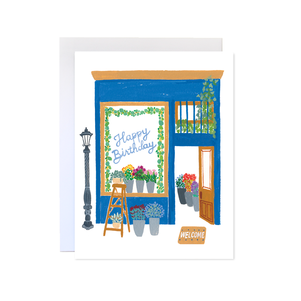 Florist Happy Birthday Card