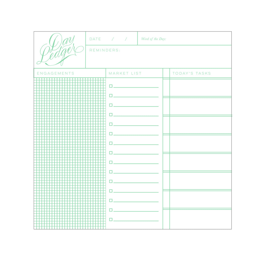 Antiquaria - Day Ledger Pad