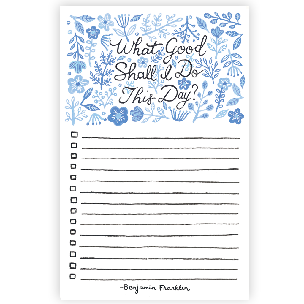 Forage Paper Co. - What Good Shall I Do? Notepad