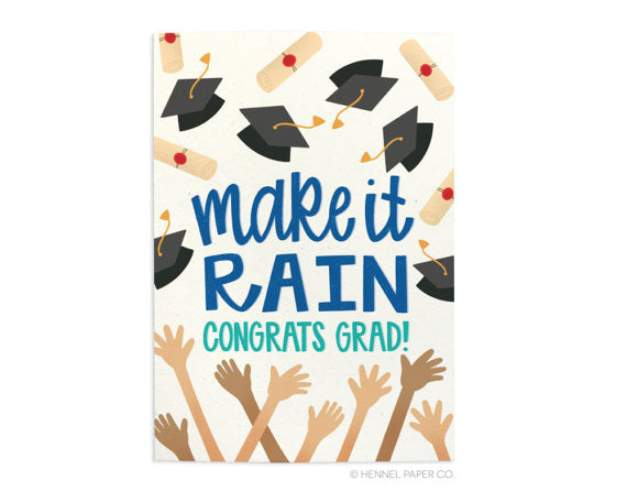Make It Rain Card Graduation Card