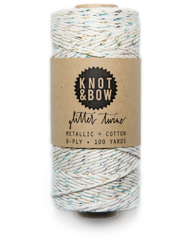 Natural Glitter Twine - Two Colors