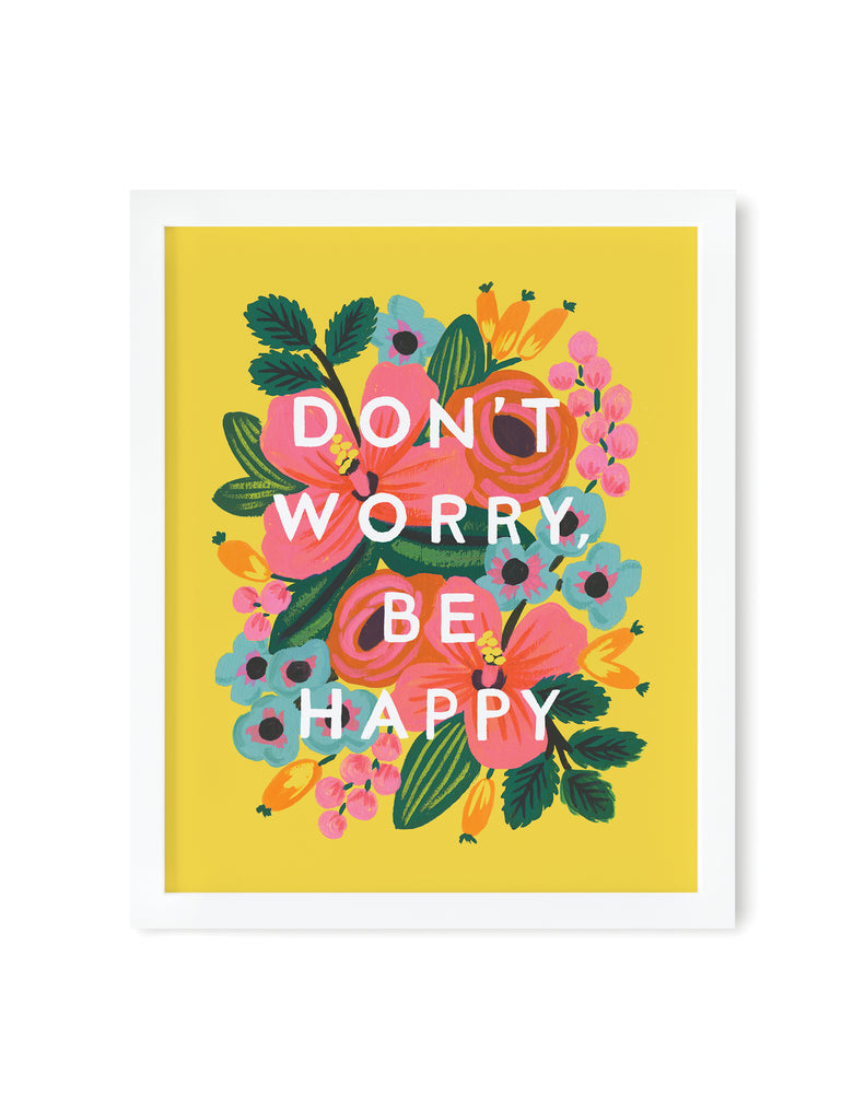 Don't Worry Be Happy Art Print 8x10