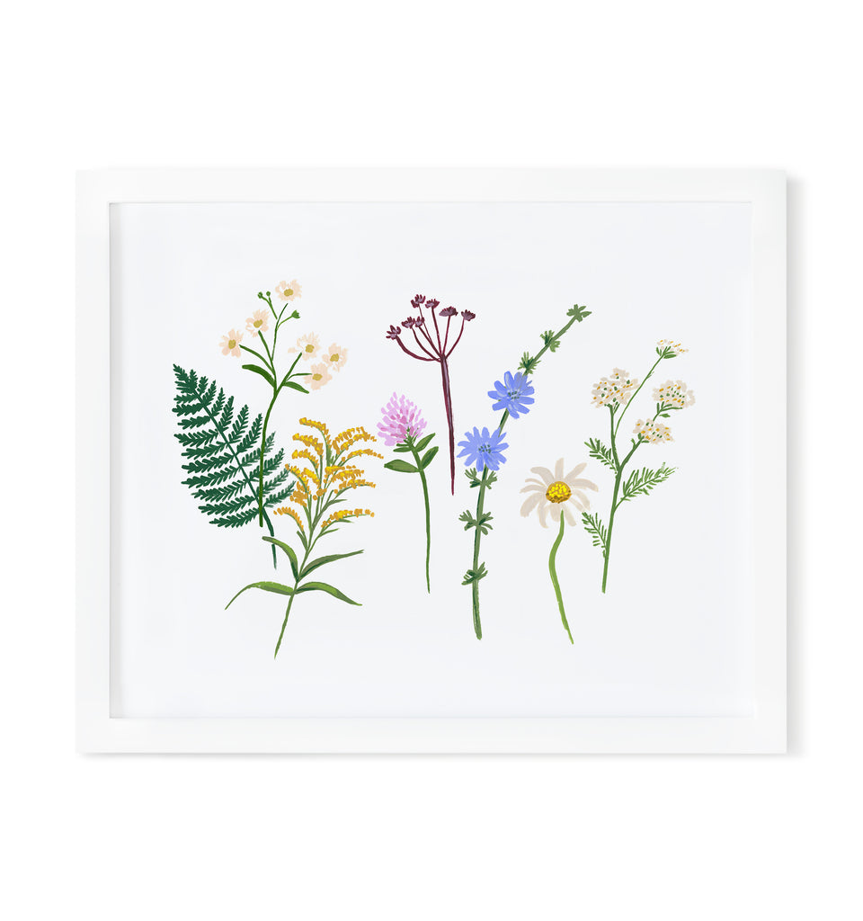 Wildflowers Art Print 8x10