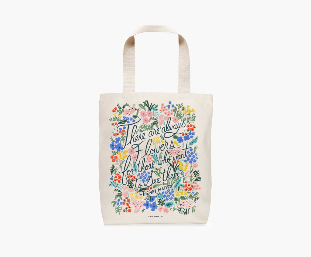 Seeing Flowers Tote Bag