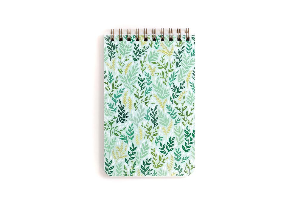Large Mint Meadow Spiral Notebook