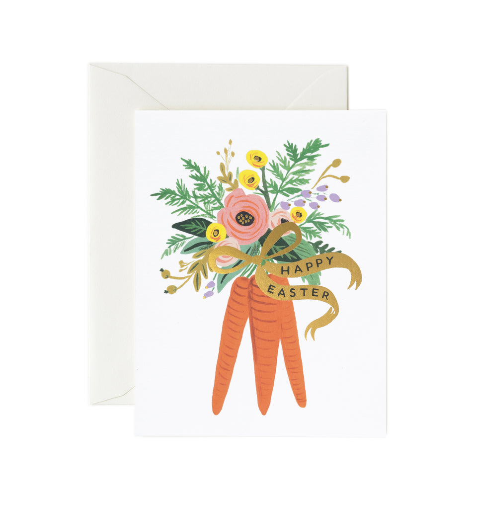 Carrot Bouquet Easter Card