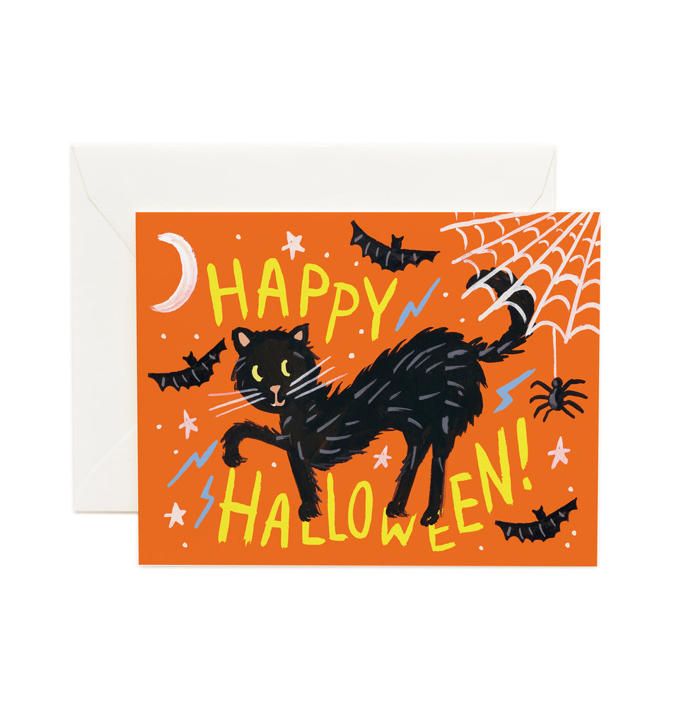 Black Cat Halloween Card