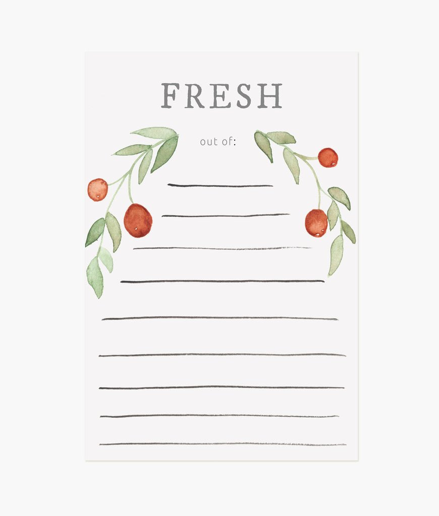 Fresh Grocery Notepad
