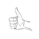 The Arcadian Thumbs Up Hand Sign Stamp