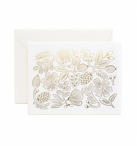 Gold Botanical Greeting Card
