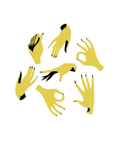 Olive & Company - Hands in Motion Art Print - 8 x 10