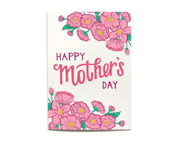Happy Mothers Day Card Floral