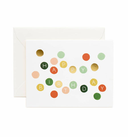 Birthday Dots Greeting Card